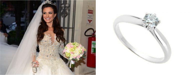 Aliança e anel de Noivado para Noiva Sofisticada