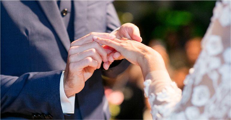 Troca de Alianças de noivado