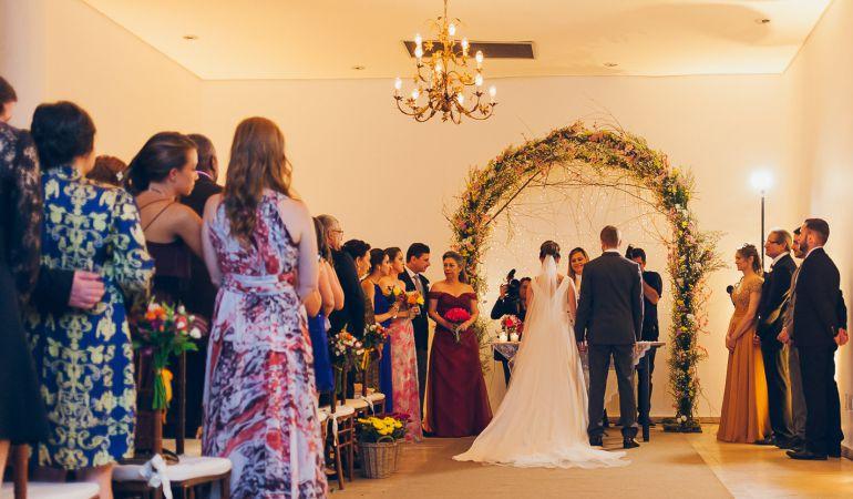 Decoração do altar de Casamento