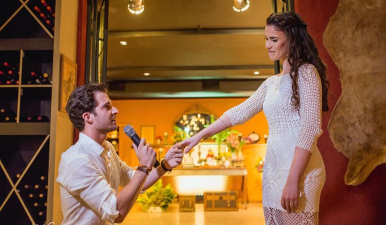 Pedido de Casamento no Noivado