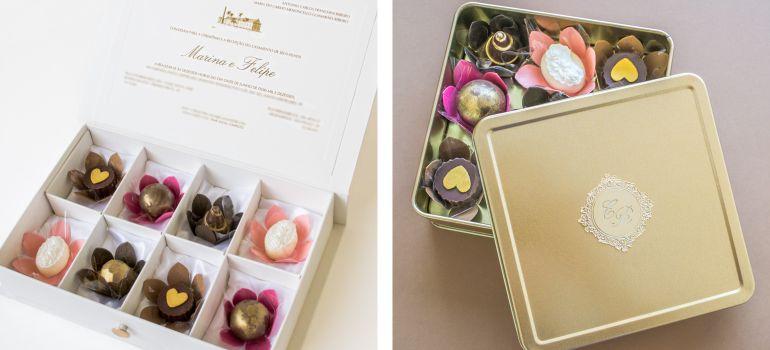 Convite para madrinhas de casamento com doces