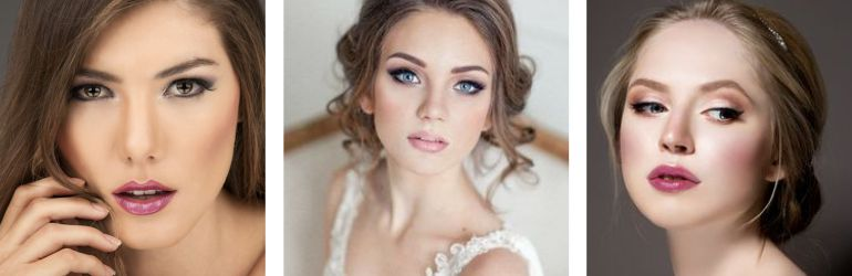 Gloss na maquiagem da noiva