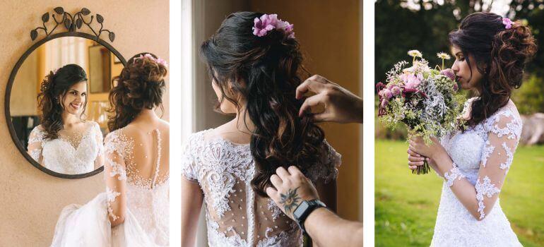 Penteado de noiva para casamento ao ar livre