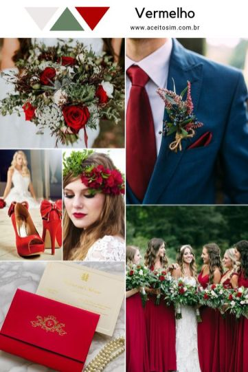 Paletas de cores para casamento