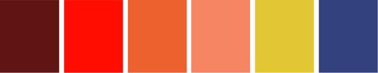Paleta de cores colorida
