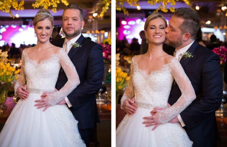 Noivos casamento colorido