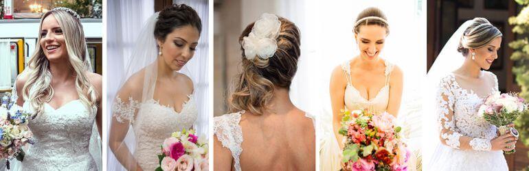 Penteados de noivas reais