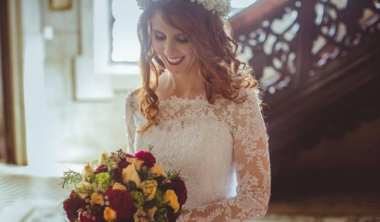 Buquê de noiva Vermelho e amarelo