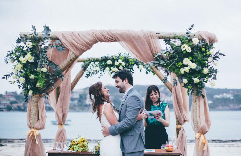 Cerimonia de casamento na praia