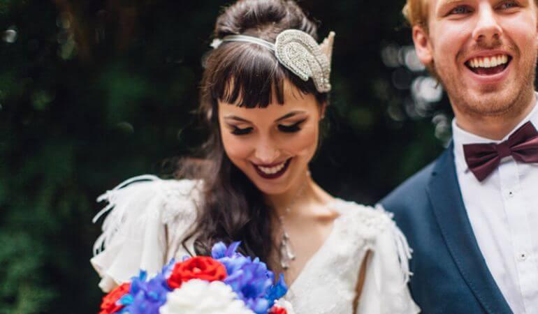 Buquê de noiva moderna