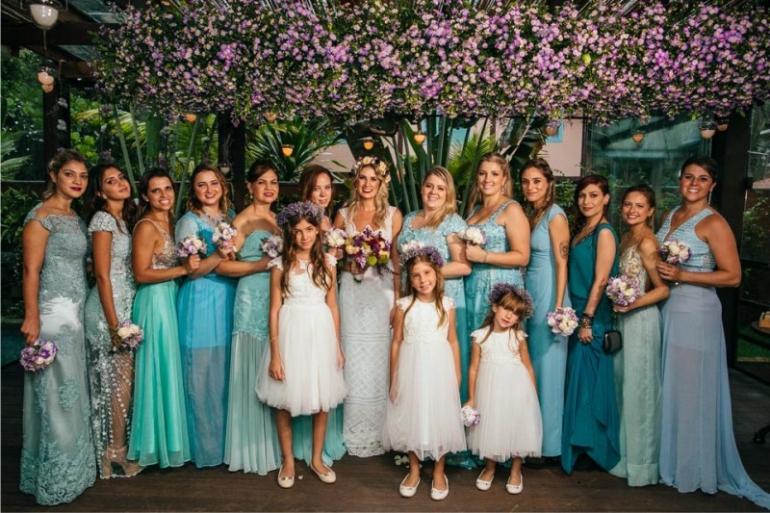 Madrinhas de Casamento - Azul Tiffany