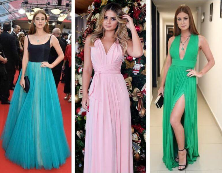 Fotos de vestido longo moderno