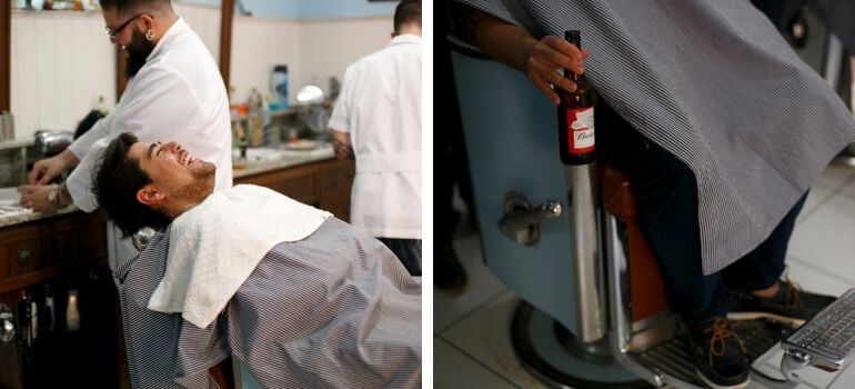 Dia do noivo na barbearia