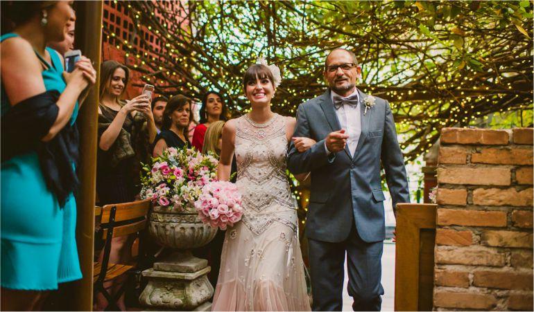 Vestido de noiva bordado estilo vintage | Vestido: BHLDN