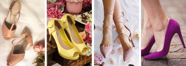 sapatos para buquê de noiva roxo