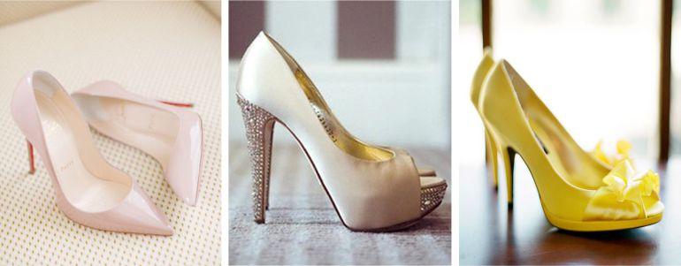 Sapatos para Buquê de noiva amarelo