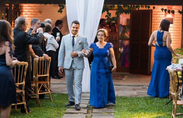 Vestido para mãe do noivo casamento no campo rústico
