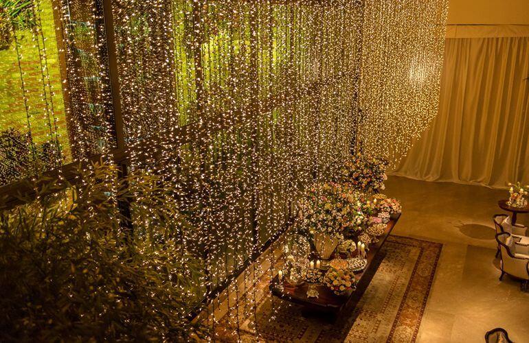 Decoração de casamento com fairy lights
