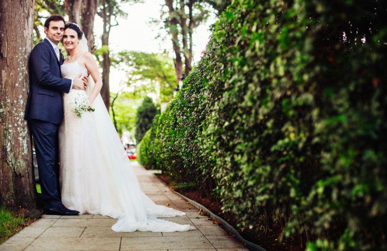 Vestido de noiva completamente bordado com pérolas!