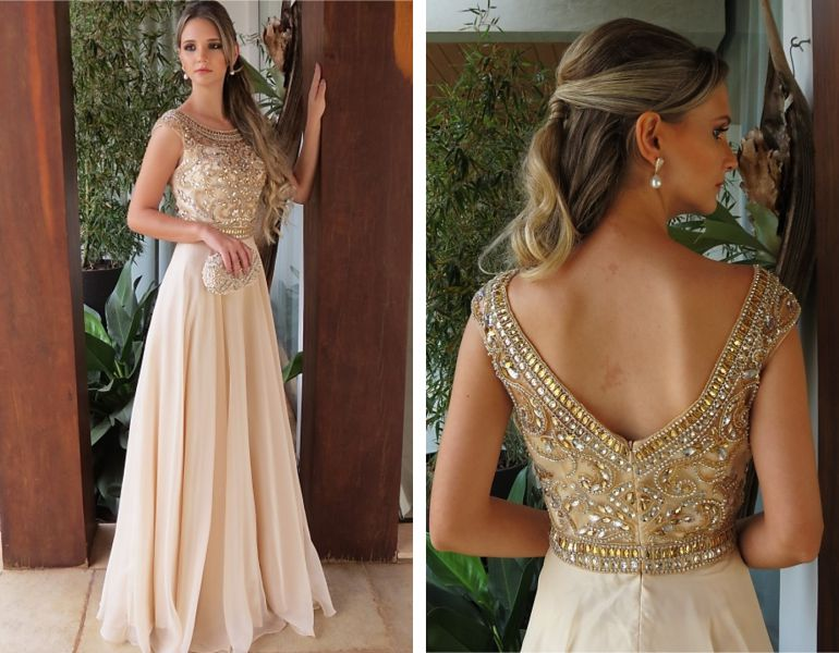 133bf7250 Modelos de vestido para casamento de noite | Aceito Sim