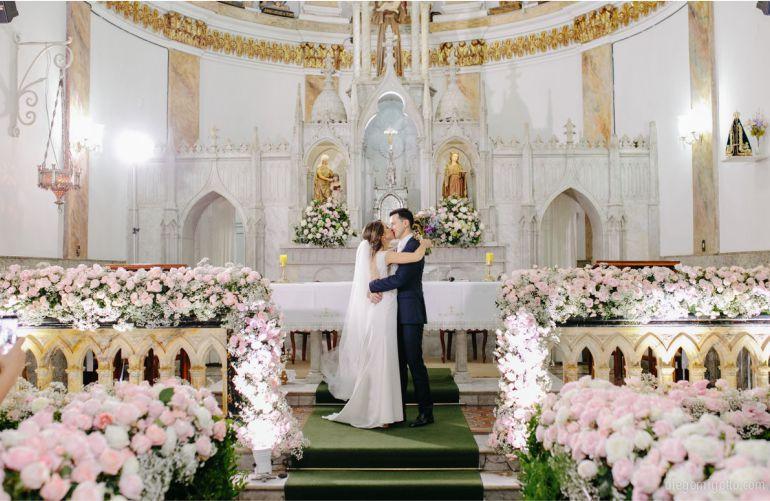 Decoração de Cerimônia de Casamento Rosa