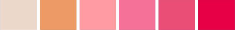 Paleta de cores rosa e dourado