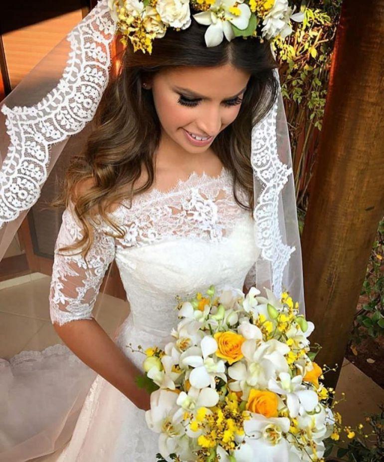 Penteados para noivas solto