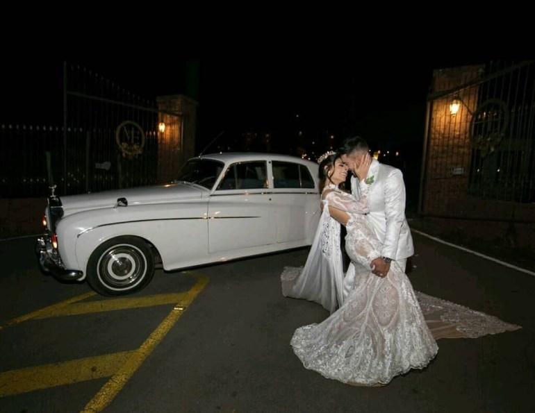 Noivos Alan Ruschel e Marina