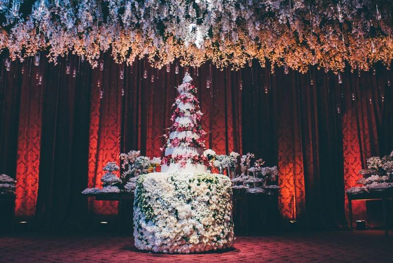 bolo com flores