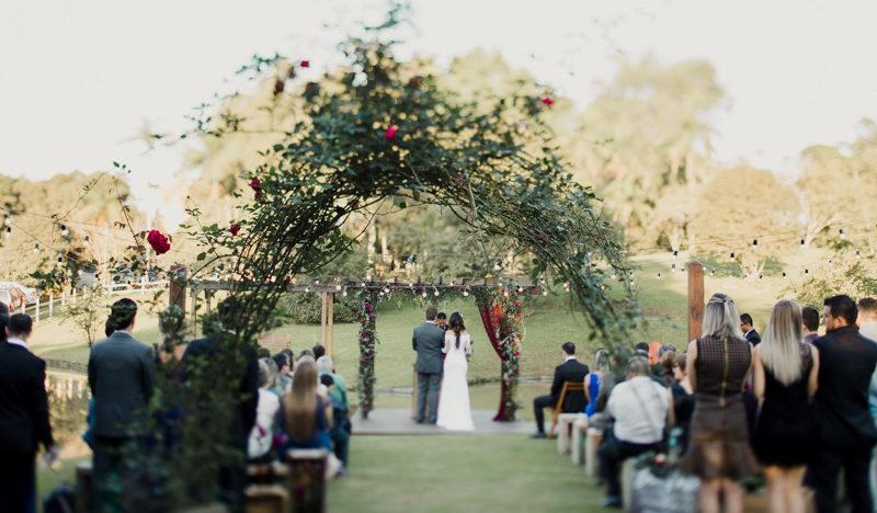 Arco de Flores Cerimônia de Casamento