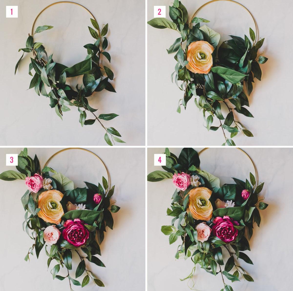 DIY Hoop Bouquet