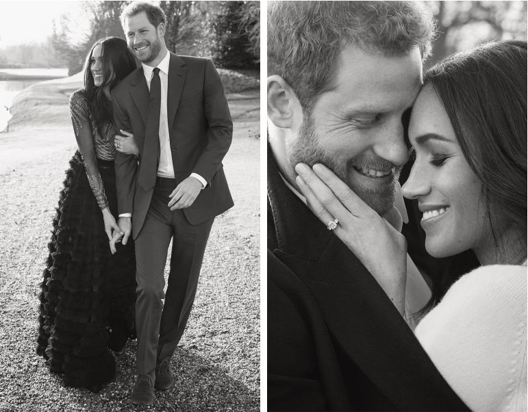Fotos oficiais do noivado de príncipe harry e meghan Markle