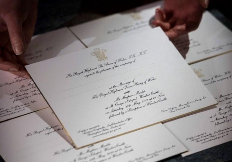Convites de casamento Meghan Markle