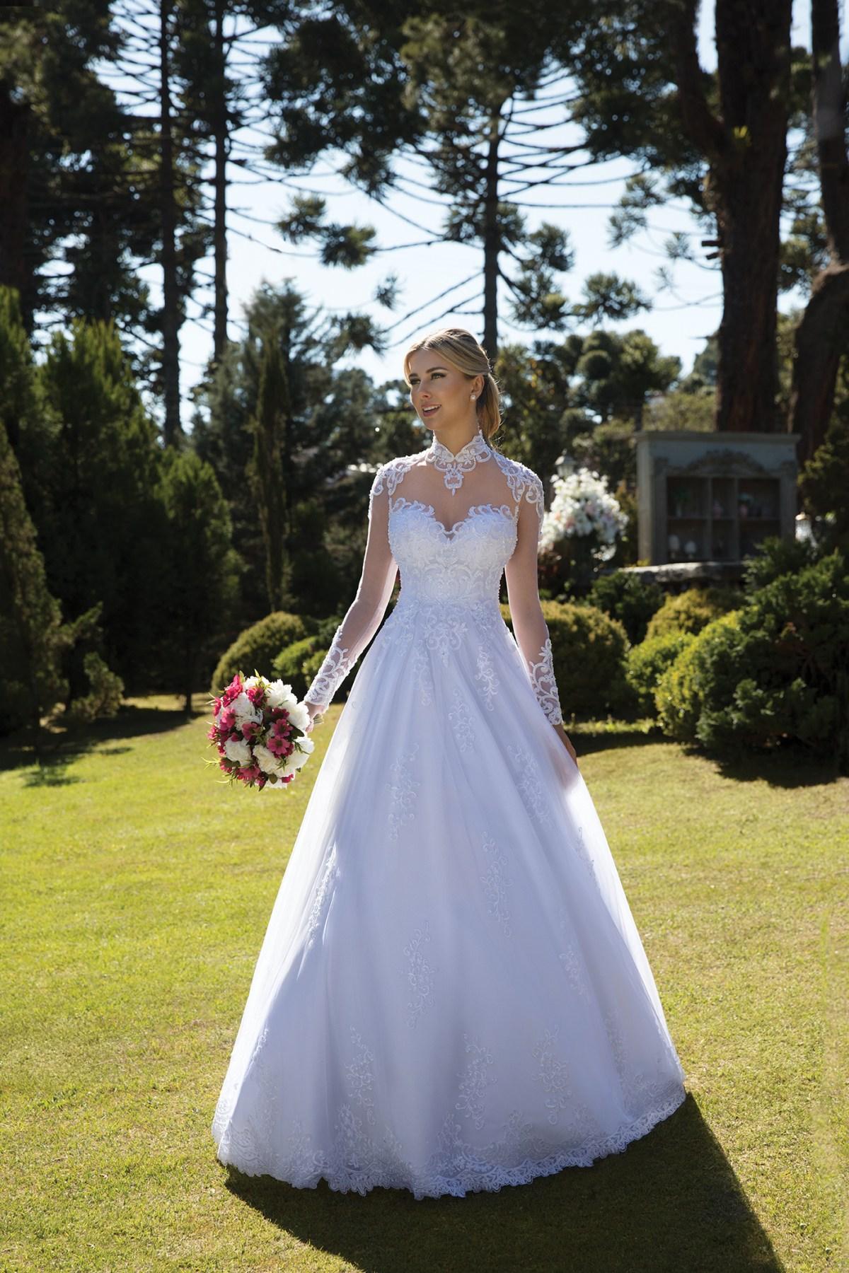 Inspirações para vestidos de noiva - Modelo Girassol