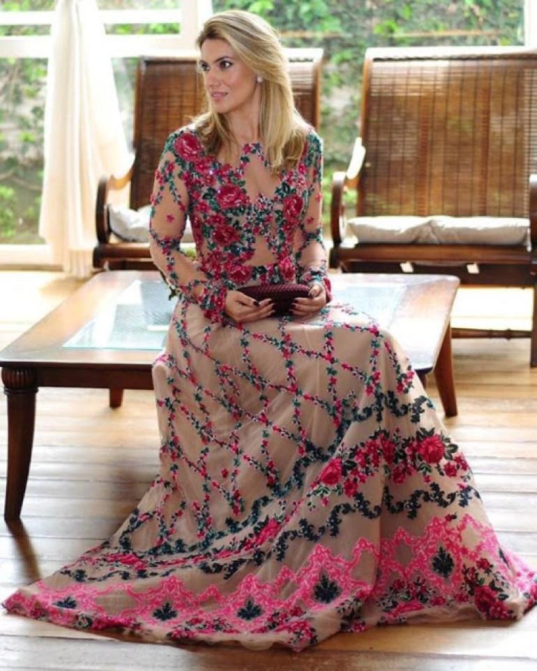 Madrinha de vestido floral