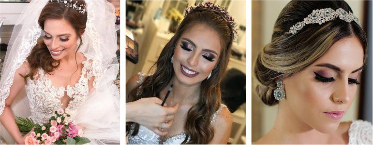 Maquiagem para noiva romântica