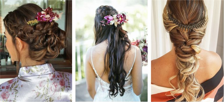 Estilos de Beleza da noiva: tranças