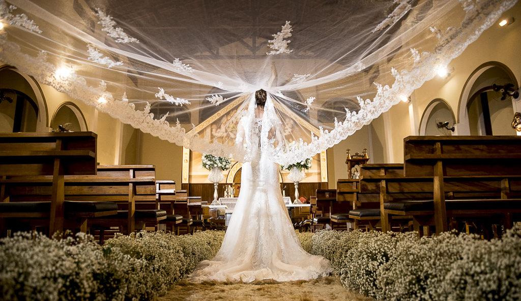 Véu da noiva mantilha