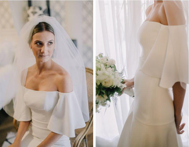 Vestido de noiva praia mangas