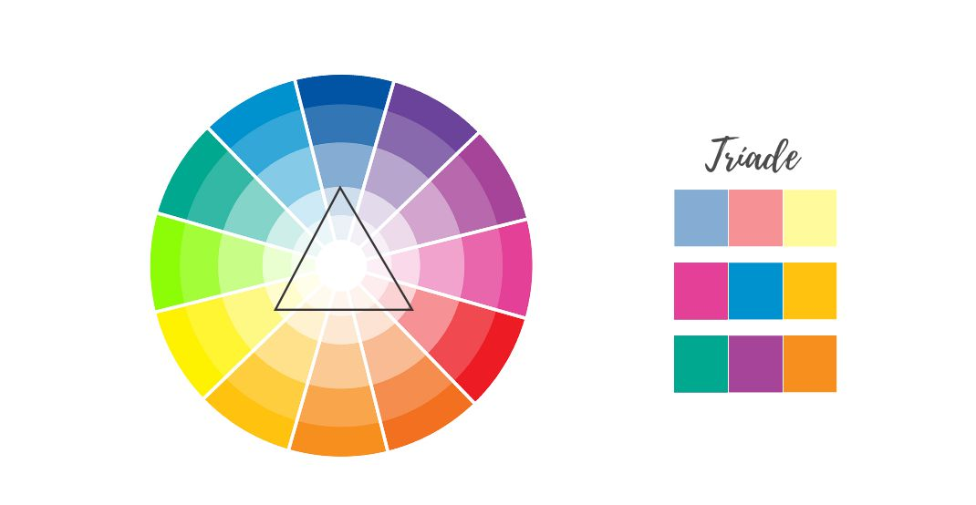 Como combinar as cores do casamento com a paleta Tríade