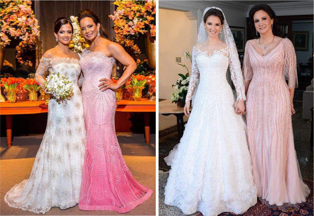 Tendências para as mães dos noivos   Vestido Claro Paulo Dolce