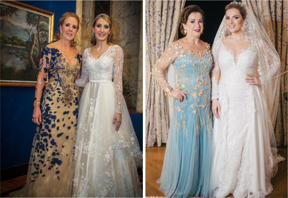 Vestidos com detalhes florais para mães das noivas | Carol Hungria