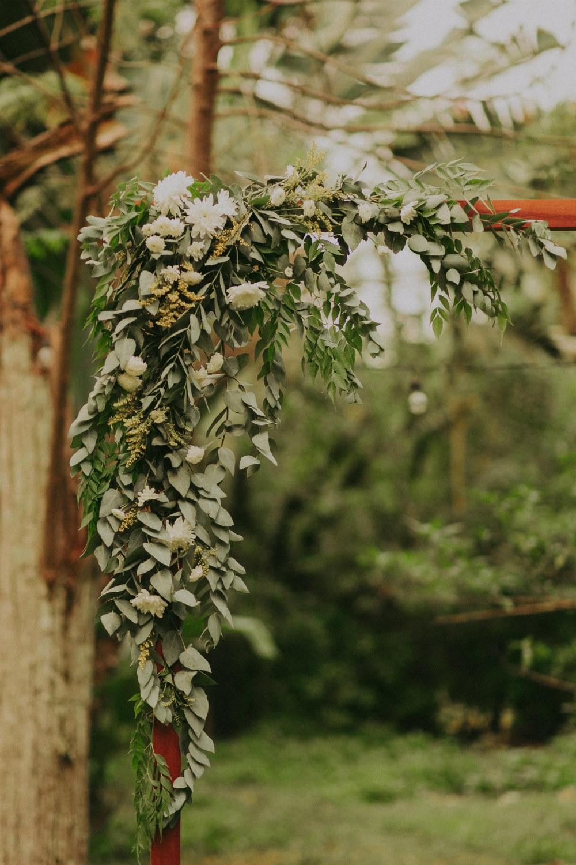 Decoração de casamento com eucalipto