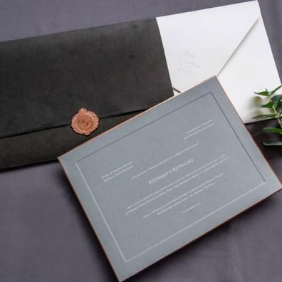 Convite de casamento com luva