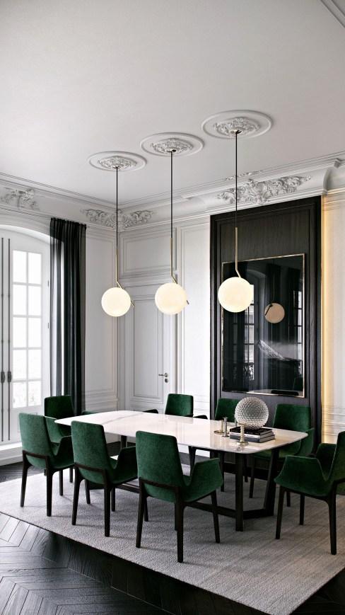 lustre salon moderne Élégant Ознакомьтесь с этим проектом Behance French ance