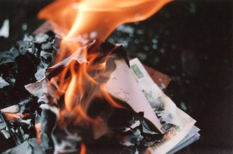 Cerimônia do ritual das chamas