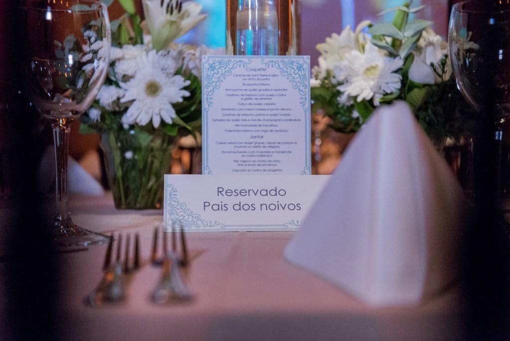Setorização das mesas de casamento