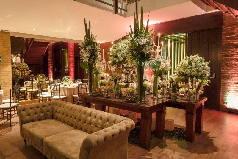 Decoração de casamento botânica - Casa do Ator