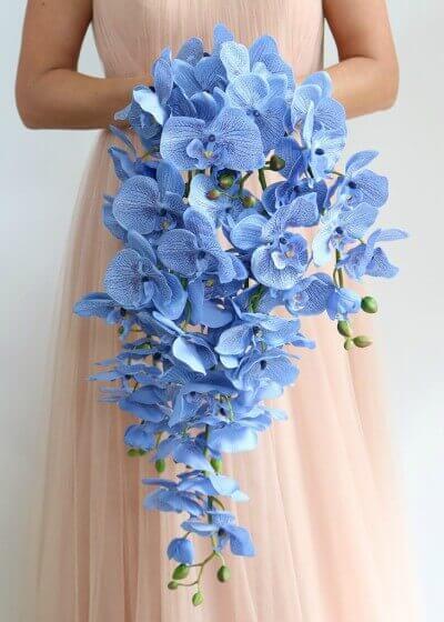 Buquê de orquídeas azuis