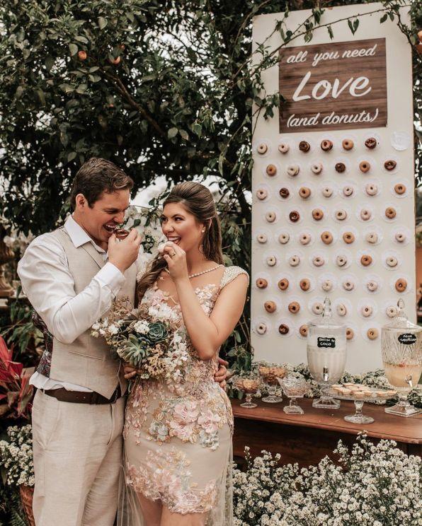 Donuts tendëncia de casamento